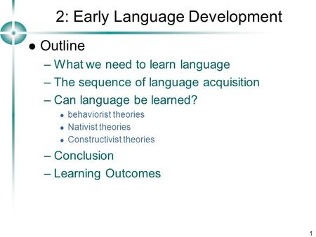 2: Early Language Development