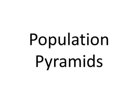 Population Pyramids. What Are They? The composition of the population of a country can tell you a great deal about its development. The best way to look.