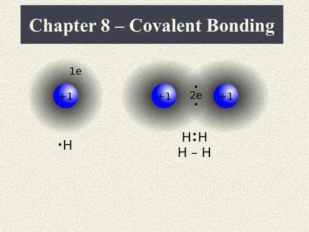 "Chapter 8 – Covalent Bonding Review of Chapter 7 In Chapter 7, we learned about electrons being transferred (""given up"" or ""stolen away"") This type of."