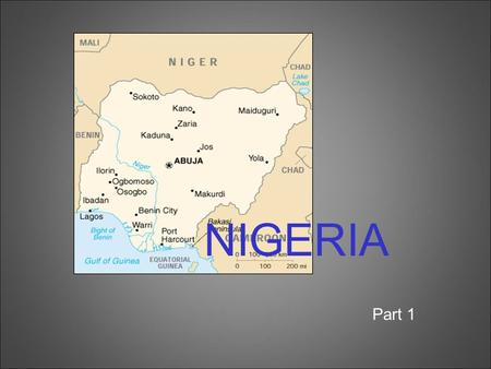 NIGERIA Part 1. conflict in the Niger Delta –MEND (Movement for the Emancipation of the Niger Delta) –goal: greater oil profits should go to people of.