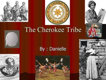 The Cherokee Tribe By : Danielle.