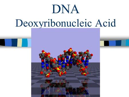 DNA Deoxyribonucleic Acid Chapter 11 Page 287. What is DNA? The information that determines an organisms traits. DNA produces proteins which gives it.
