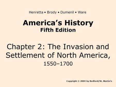America's History Fifth Edition