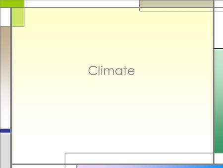 Climate. Factors that Affect Climate Climate □Average weather conditions over a long period of time □Defined by Many Factors □Temperature □Precipitation.