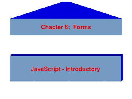 Chapter 6: Forms JavaScript - Introductory. Previewing the Product Registration Form.