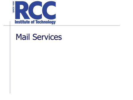 Mail Services.