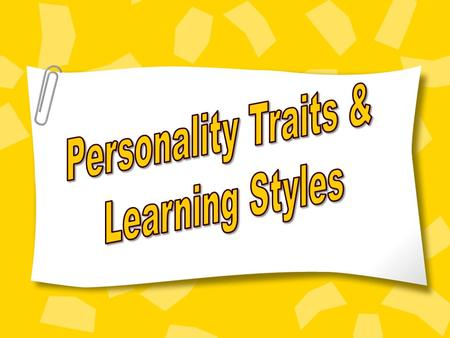 Understanding Yourself and Others Personality Profile.