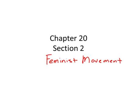 Chapter 20 Section 2.