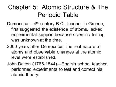 Chapter 5 Atomic Structure Ppt Video Online Download