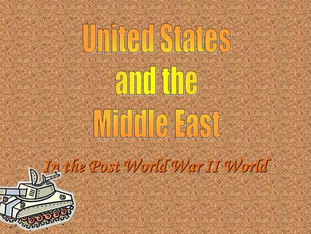 In the Post World War II World. During and after World War II many Jews immigrated to Palestine During and after World War II many Jews immigrated to.