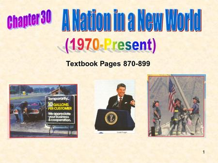 11 Textbook Pages 870-899. 22 1.The Conservative Revolt Ronald Reagan a Republican led a conservative revolt against years of government expansion during.