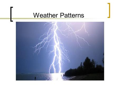 Weather Patterns.