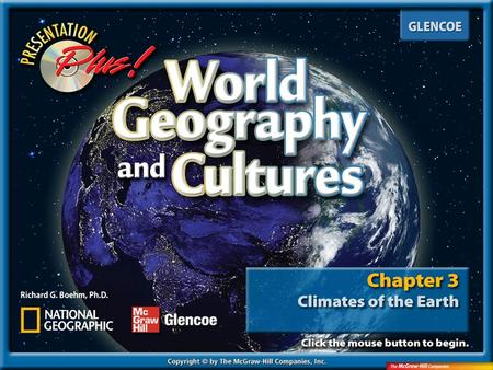 Splash Screen. Chapter Menu Introduction Section 1: Section 1: Earth-Sun Relationships Section 2: Section 2: Factors Affecting Climate Section 3: Section.