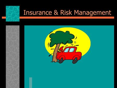 Insurance & Risk Management. Group Activity  Groups of 4 to 5  5 Minutes - brainstorm every type of risk a student might face in a typical day (physical,