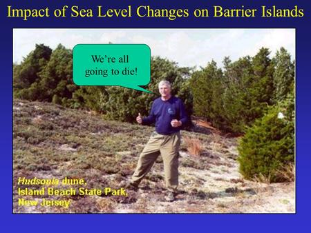 Impact of Sea Level Changes on Barrier Islands We're all going to die!