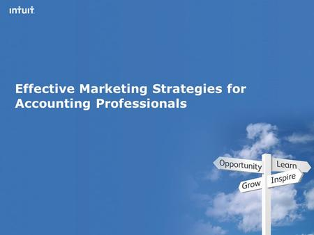 Intuit Canada ULC Effective Marketing Strategies for Accounting Professionals.