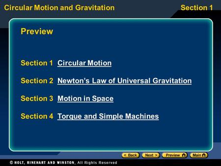 Preview Section 1 Circular Motion