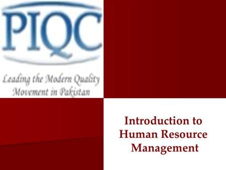 Introduction to Human Resource Management.