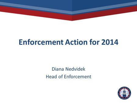 Enforcement Action for 2014