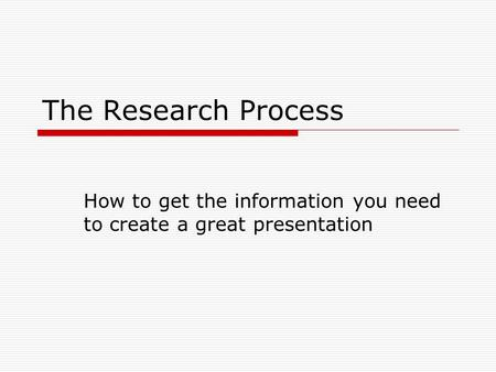 How to get the information you need to create a great presentation