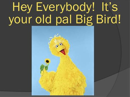 Hey Everybody! It's your old pal Big Bird!. We are here to learn quadrilaterals.