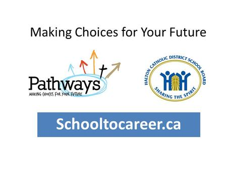 Making Choices for Your Future Schooltocareer.ca.