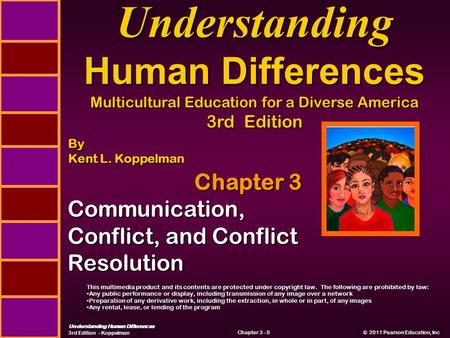 Understanding Human Differences 3rd Edition - Koppelman © 2011 Pearson Education, Inc © 2011 Pearson Education, Inc Chapter 3 - 0 Chapter 3 Communication,