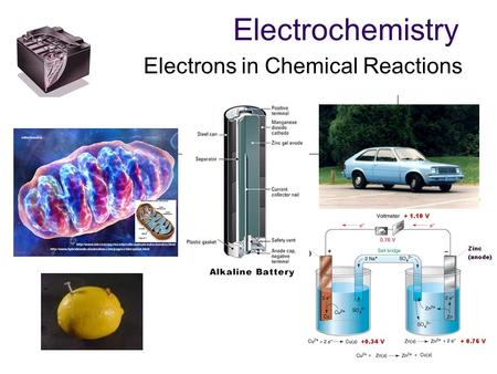 Electrochemistry Electrons in Chemical Reactions.