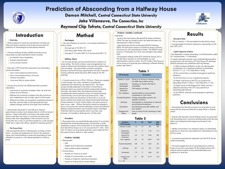 Table 1 Introduction  Overview  While predictors of recidivism and technical violations are often examined in probation and parole outcome research,