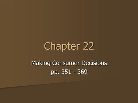 Making Consumer Decisions pp