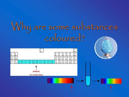 Why are some substances coloured?