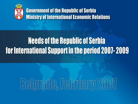  Strong reforms underway in Serbia, still numerous challenges ahead  Importance of setting priorities within national agenda  Joint efforts of all.