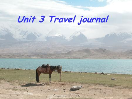 Unit 3 Travel journal Competition Competition 1 st round : 1 st round : Each group get 5 words.10 points for each. There are 4 groups of words to choose.