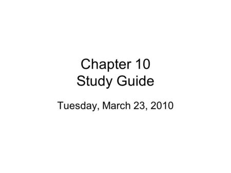 Chapter 10 Study Guide Tuesday, March 23, 2010. Section 1 Know Newton's 1st Law of Motion. –Be able to explain and cite examples. Distinguish between.