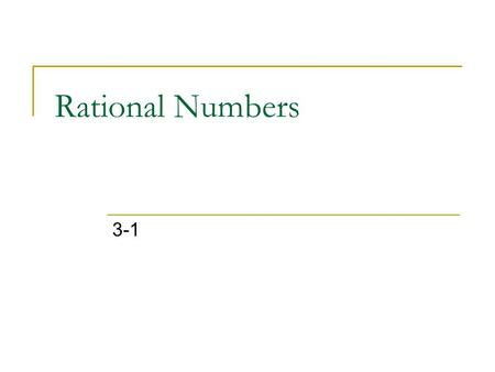 Rational Numbers 3-1.