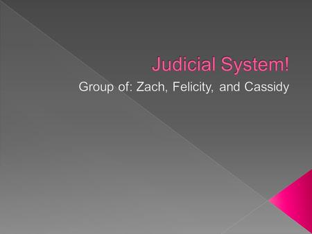  Standard The student with analyze the role of the Judicial Branch in the Georgia state government.  EQ How does the Georgia's judicial system provide.