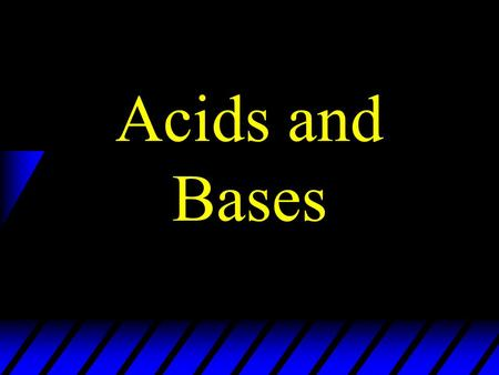 "Acids and Bases. Solutions homogeneous mixtures in which one substance is dissolved into another the ""solute"" dissolves in the ""solvent"" example: Kool-Aid."