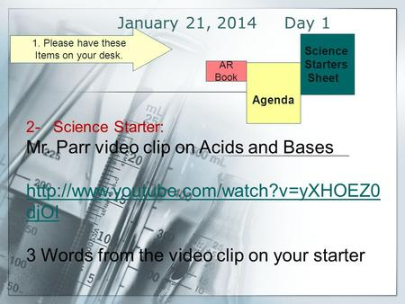 Mr. Parr video clip on Acids and Bases