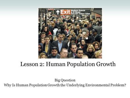 overpopulation the underlying cause of most Any time that we are discussing ecological issues, we need to have the overpopulation crisis spotlighted as being the underlying cause of the damage being done to our world another aspect of this situation also needs to be raised.