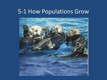 5-1 How Populations Grow.