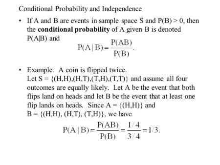 Chapter Three Conditional Probability And Independence Ppt Video