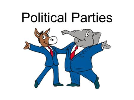 Political Parties. Republican vs. Democrat What does it mean to be a Republican? What does it mean to be a Democrat?