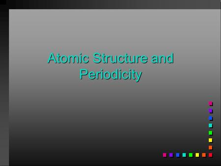 Atomic Structure and Periodicity. Atoms ProtonsNeutronsElectrons 1. Where are the electrons 2. Do they have different energies.