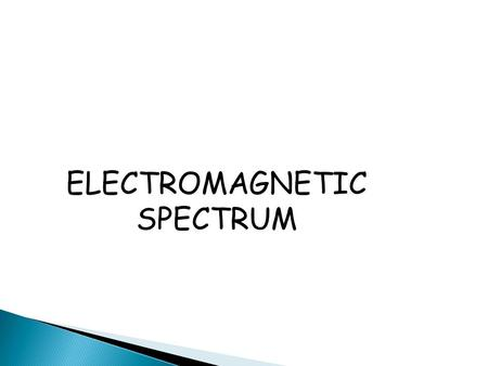 ELECTROMAGNETIC SPECTRUM.  Water and sound waves transfer energy from one place to another- they require a medium through which to travel. They are mechanical.