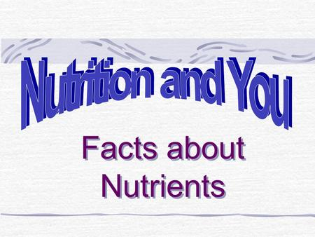 Facts about Nutrients Objectives: Food affects the way you feel There is a difference between hunger and appetite There are important factors that affect.