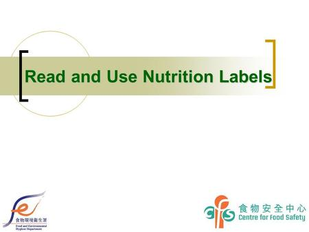 Read and Use Nutrition Labels. 2 Examples of Recommended Format of Nutrition Label Tabular format 1 7.
