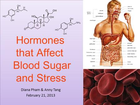 Hormones that Affect Blood Sugar and Stress Diana Pham & Anny Tang February 21, 2013.