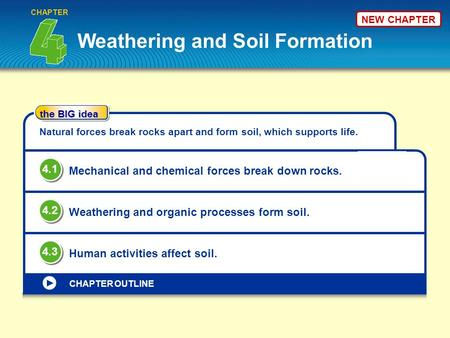 Weathering and Soil Formation