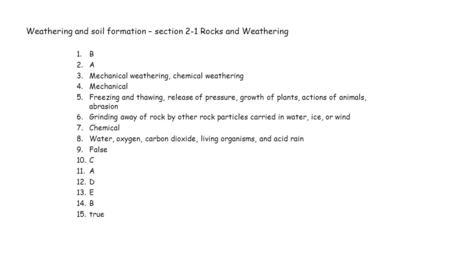Key weathering gizmo answer Weathering Gizmo