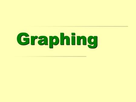 Graphing. The Important Elements of a Graph  Horizontal Axis (X-Axis)  The Independent Variable. A change in this variable affects the y variable. 